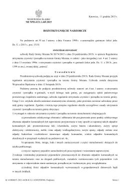 Rozstrzygniecie nadzorcze Nr NPII.4131.1.469.2015 z dnia 11