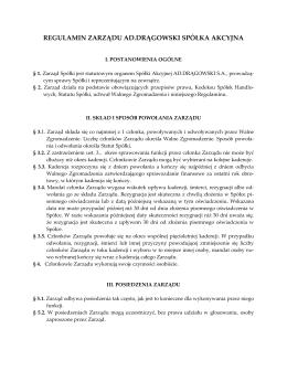 Pobierz Regulamin Zarządu