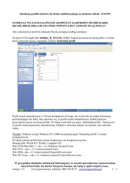 Instrukcja instalacji profilu kolorów w systemie Windows.