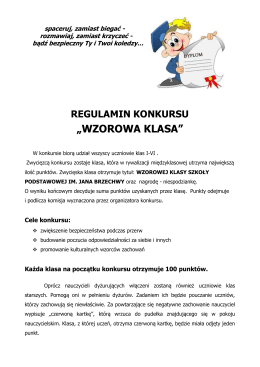 """""""WZOROWA KLASA"""" - SZKOŁA PODSTAWOWA NR 92 im. JANA"""