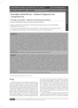 Neuralgia amiotroficzna – trudności diagnostyczne i terapeutyczne