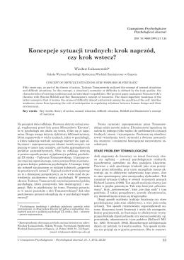 Pobierz pełny tekst - Czasopismo Psychologiczne