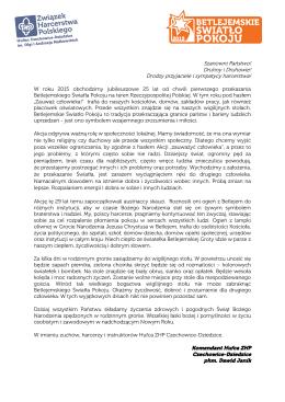 List Komendanta - Hufiec ZHP Czechowice Dziedzice
