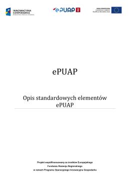 Opis standardowych elementów ePUAP