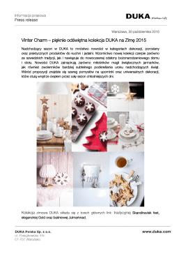 Vinter Charm – pięknie odświętna kolekcja DUKA na