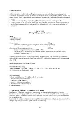 1/3 Ulotka dla pacjenta Należy przeczytać uważnie całą - Hasco-Lek