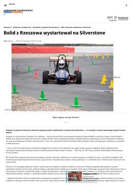 Bolid z Rzeszowa wystartował na Silverstone