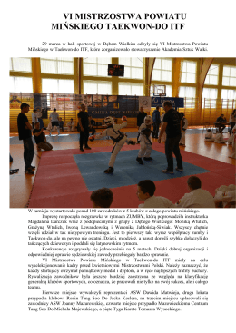 VI Mistrzostwa Powiatu Mińskiego w Taekwon