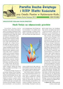 Odpust 2015 - Oficjalna Strona Parafii pw Ducha Świętego i NMP