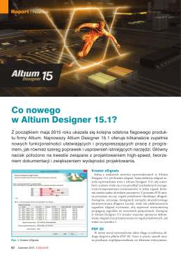 Co nowego w Altium Designer 15.1?