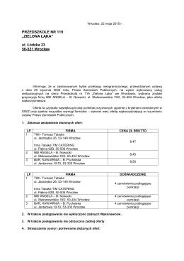"""pobierz - Przedszkole nr 119 """"Zielona Łąka"""""""