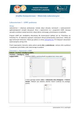 Grafika Komputerowa – Materiały Laboratoryjne