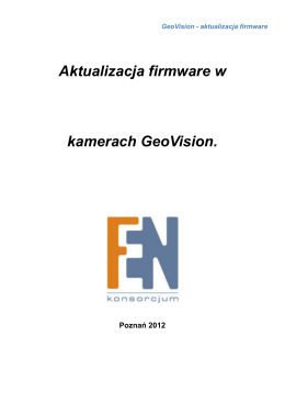 Geovision - uproszczony manual