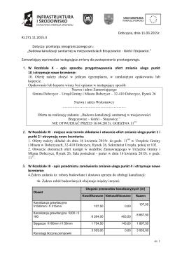 zmiana terminu, zmiana siwz, ogłoszenia opublikowano 12.03.2015r