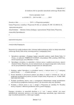 załącznik nr 2 - wzór umowy sprzedaży