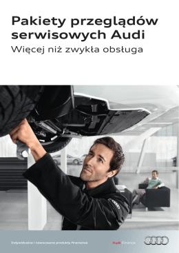 Pakiety przeglądów serwisowych Audi