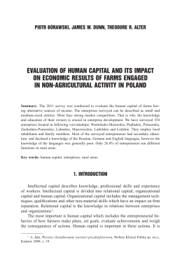 evaluation of human capital and its impact on economic results of