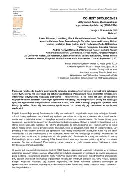 nota prasowa, PDF - Centrum Sztuki Współczesnej
