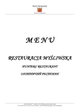 M E N U - Hotel Hetmanski