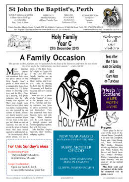 A Family Occasion - St John`s RC Church, Perth