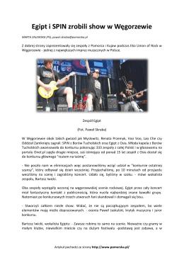 Egipt i SPIN zrobili show w Węgorzewie