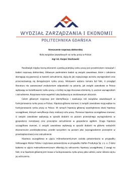 Streszczenie rozprawy doktorskiej mgr inż. Kacpra Stachowskiego