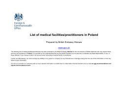 List of medical facilities/practitioners in Poland