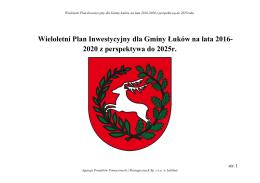 Wieloletni Plan Inwestycyjny dla Gminy Łuków na lata 2016