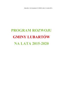program rozwoju gminy lubartów na lata 2015-2020