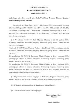 URM 47 zm. WPF na lata 2015-2025