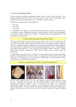 8 1.5. Trzy stany skupienia materii Surowce kopalne, przedmioty