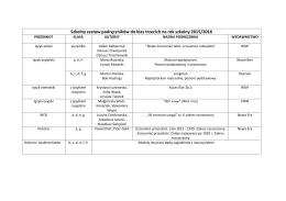 Podręczniki klasa III