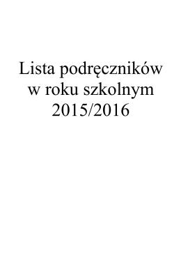 Lista podręczników dla LO i TM-E