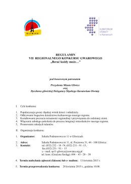 regulamin konkursu - Szkoła Podstawowa Nr 11 w Gliwicach
