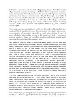 Relacja z debaty - Otwarta Rzeczpospolita