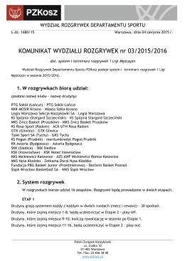 Komunikat WR 03/2015/2016 - Polski Związek Koszykówki