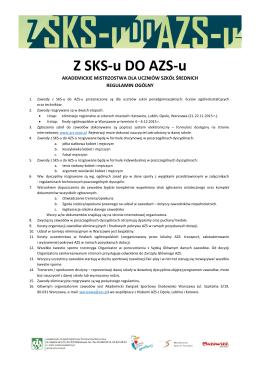 Z SKS-u do AZS-u - regulamin