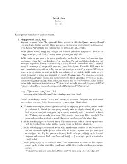 Język Java Zestaw 4 Klasy proszę umieścić w pakiecie watki. 1