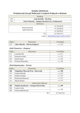 Kontakt - Świętokrzyski Zarząd Melioracji i Urządzeń Wodnych w