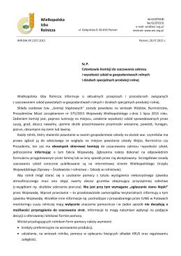 Informacja o aktualnych przepisach i procedurach związanych z