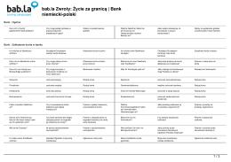 Zwroty: Życie za granicą | Bank (niemiecki-polski)