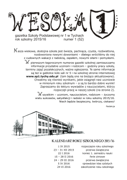tutaj - Szkoła Podstawowa nr 1 im. Rudolfa Zaręby w Tychach