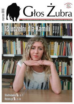 Głos Żubra marzec 2015 - Centrum Kształcenia Zawodowego i