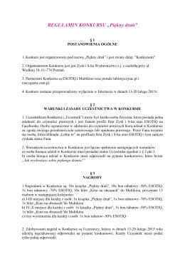 REGULAMIN KONKURSU - WZÓR - Zysk i S-ka