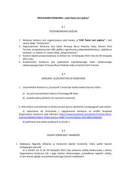 """Zobacz Regulamin Konkursu """"Itaki Świat jest piękny"""" w PDF."""