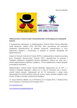 BuskerBus-EFFE Label 2015-2016