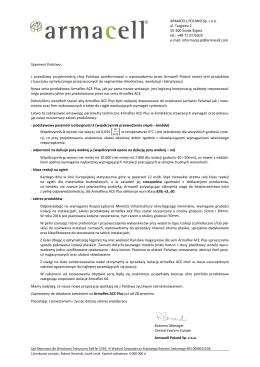 Pismo przewodnie Armaflex ACE Plus 2015