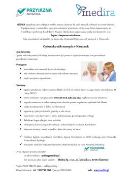 Opiekunka osób starszych w Niemczech - Medira