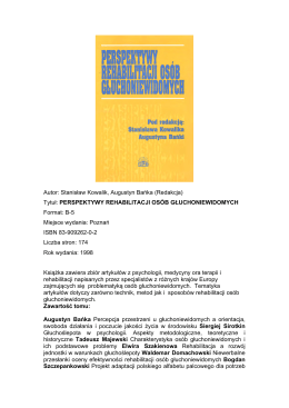 Lista książek - Czasopismo Psychologiczne