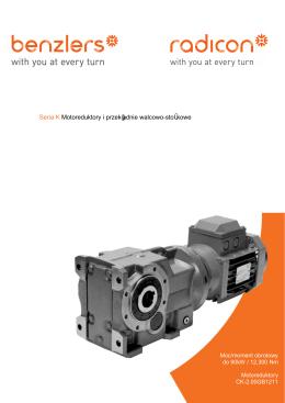 Seria K Motoreduktory i przekładnie walcowo-stożkowe
